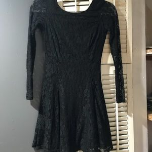 H&M Lace Long Sleeve Skater Dress